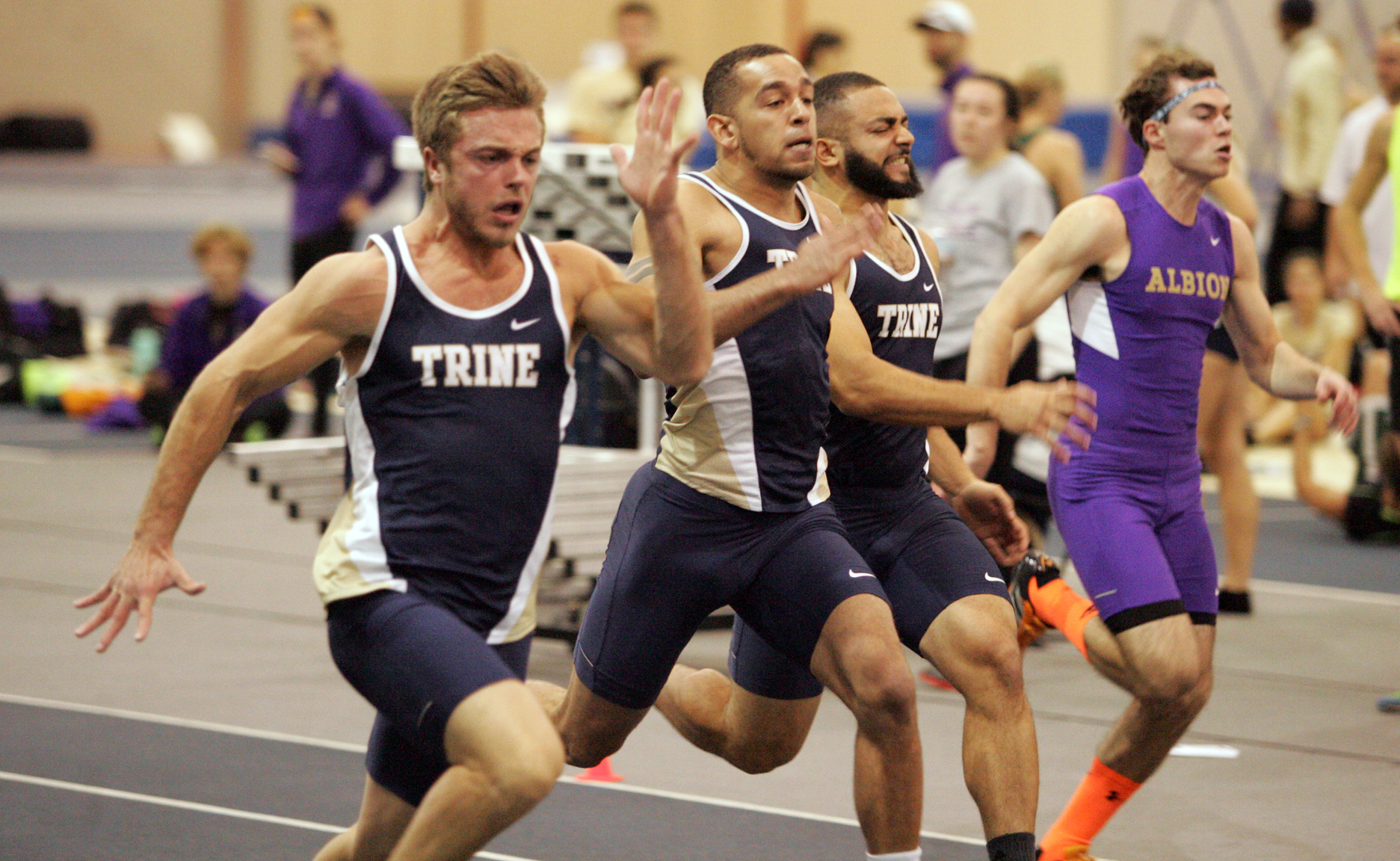 Thunder Men Place Second at MIAA Indoor Meet