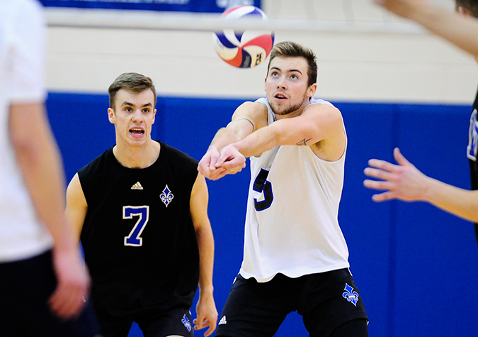 No. 15 Men's volleyball registers straight-set victory over Scarlet Raiders