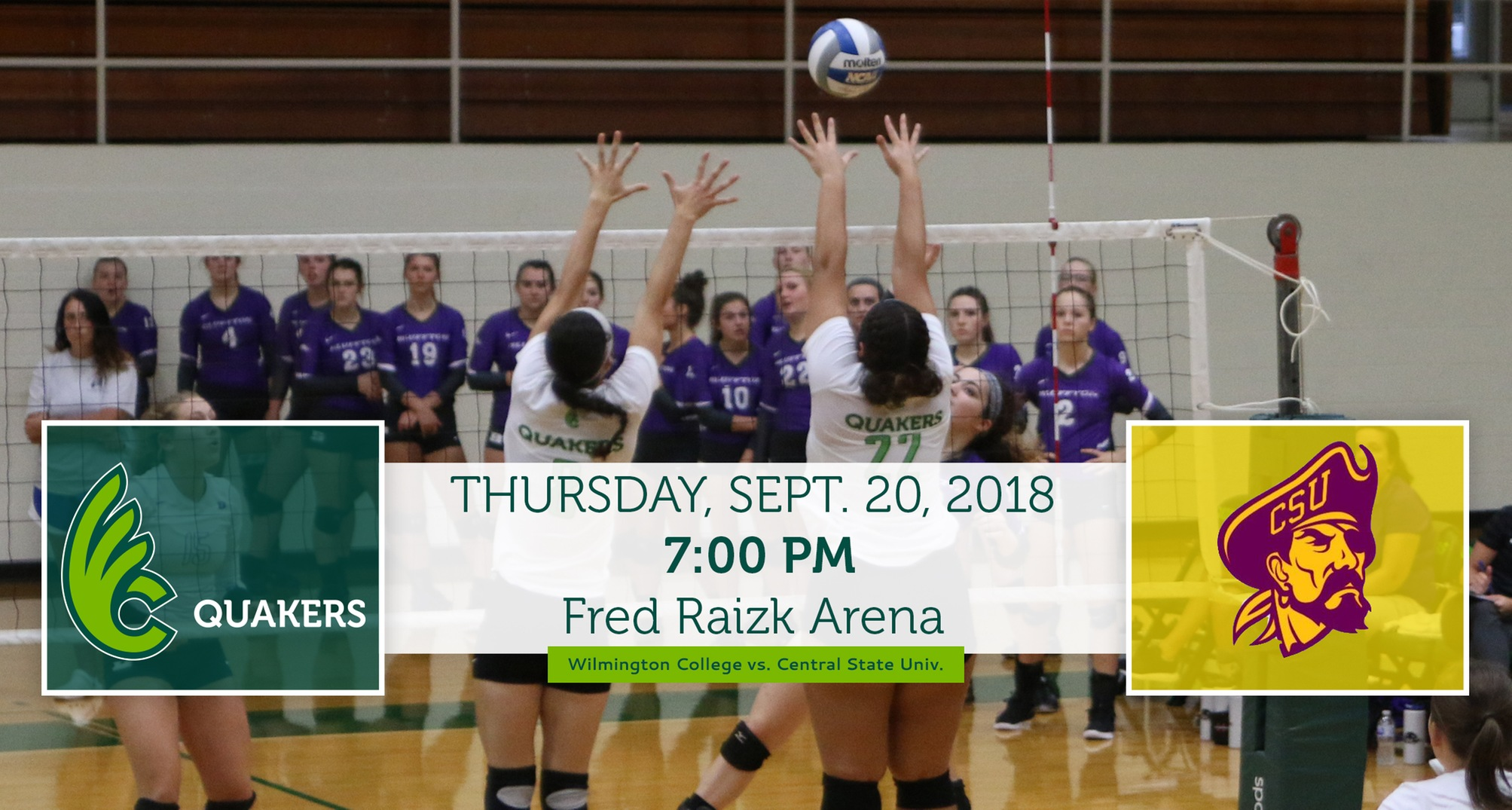 Volleyball Facing Central State at Home Thursday