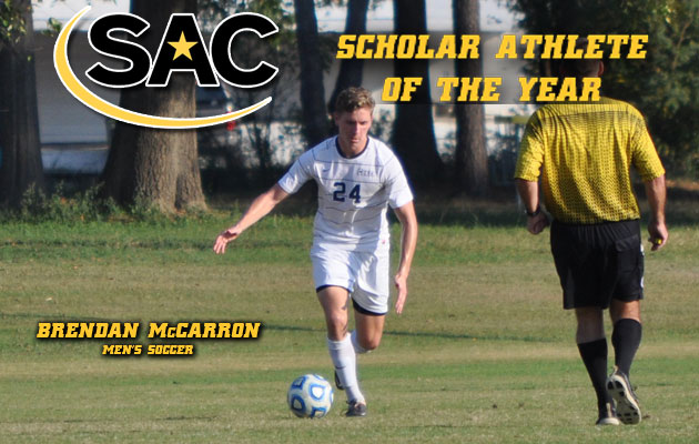 McCarron Named SAC Scholar-Athlete of the Year