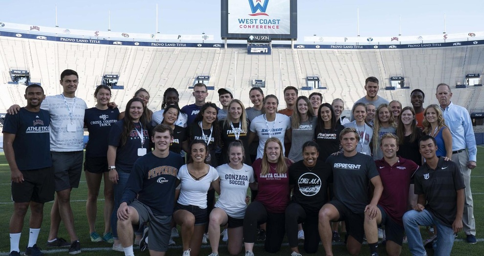 WCC SAAC Leadership Summit Student-Athletes (photo by BYU)