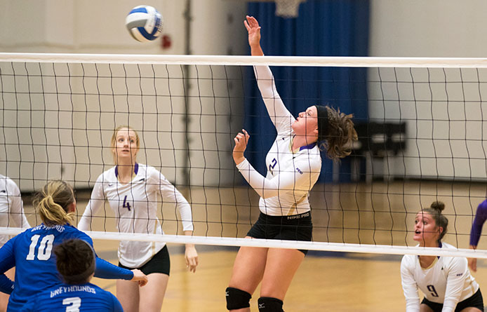 Women's Volleyball Swept by Merrimack in Conference Action