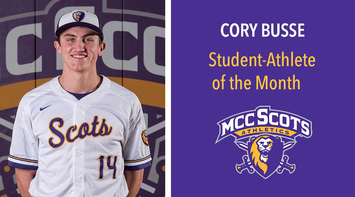Cory Busse, April 2020 Student-Athlete of the Month
