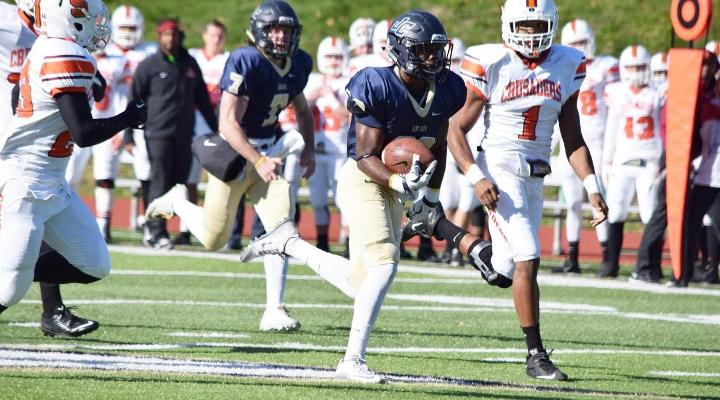 Deonte Alston ran for a season-best 133 yards and scored a 37-yard touchdown in his final game as an Eagle.