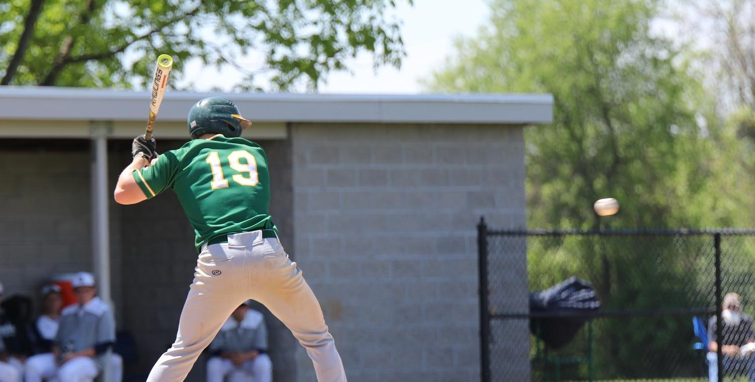 Anthony Mashewske (19) had a pair of hits on the day for Keuka College
