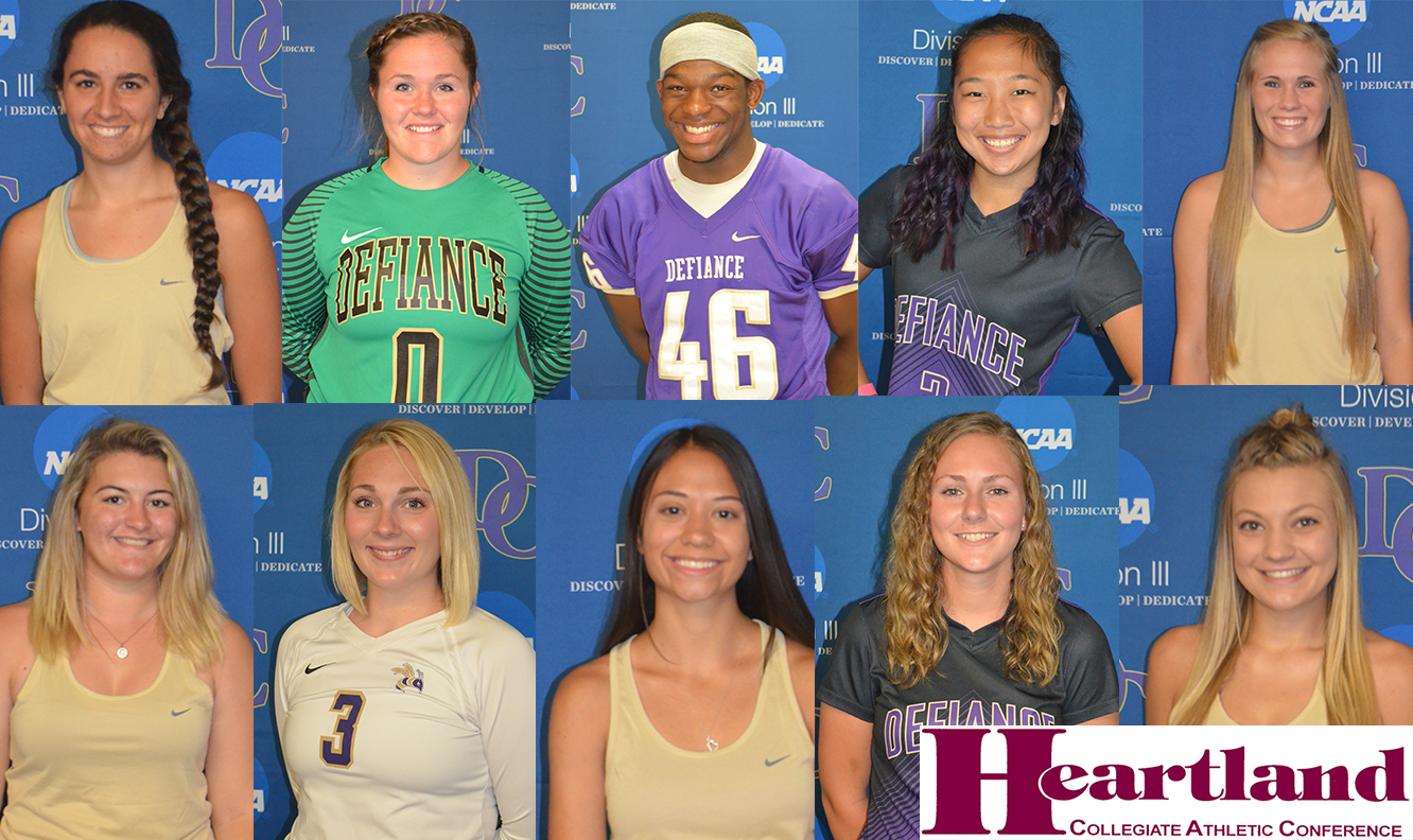 Defiance College Places 11 Student-Athletes on Academic All-HCAC Teams