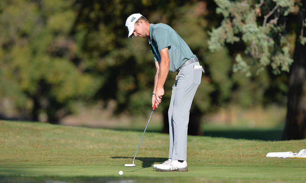 MEN'S GOLF FINISHES 2-UNDER PAR BEHIND CARR'S ROUND OF 69