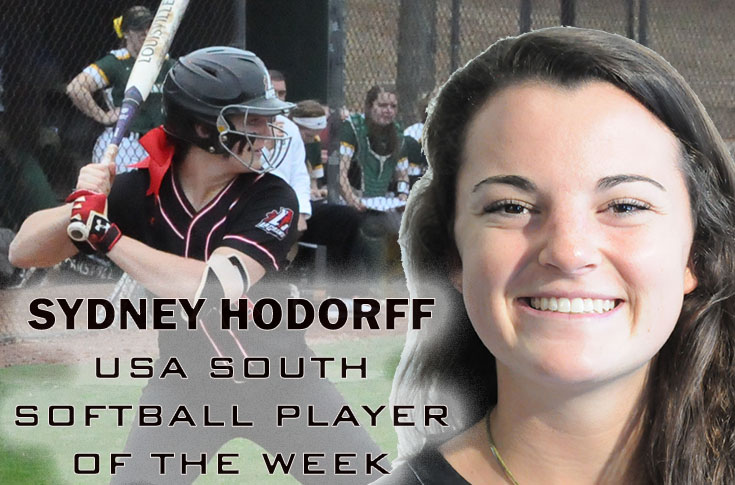 2017-18 in Review: Sydney Hodorff named USA South Softball Player of the Week