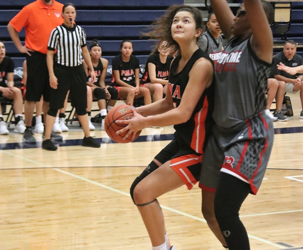 Freshman Tyra Do scored 16 points but the No. 14 ranked Aztecs women's basketball team (Division II) had no answer for No. 23 Cochise College (Division I) in their 99-67 loss in their ACCAC conference opener. The Aztecs are now 3-3 overall and 0-1 in conference. Photo by Stephanie Van Latum