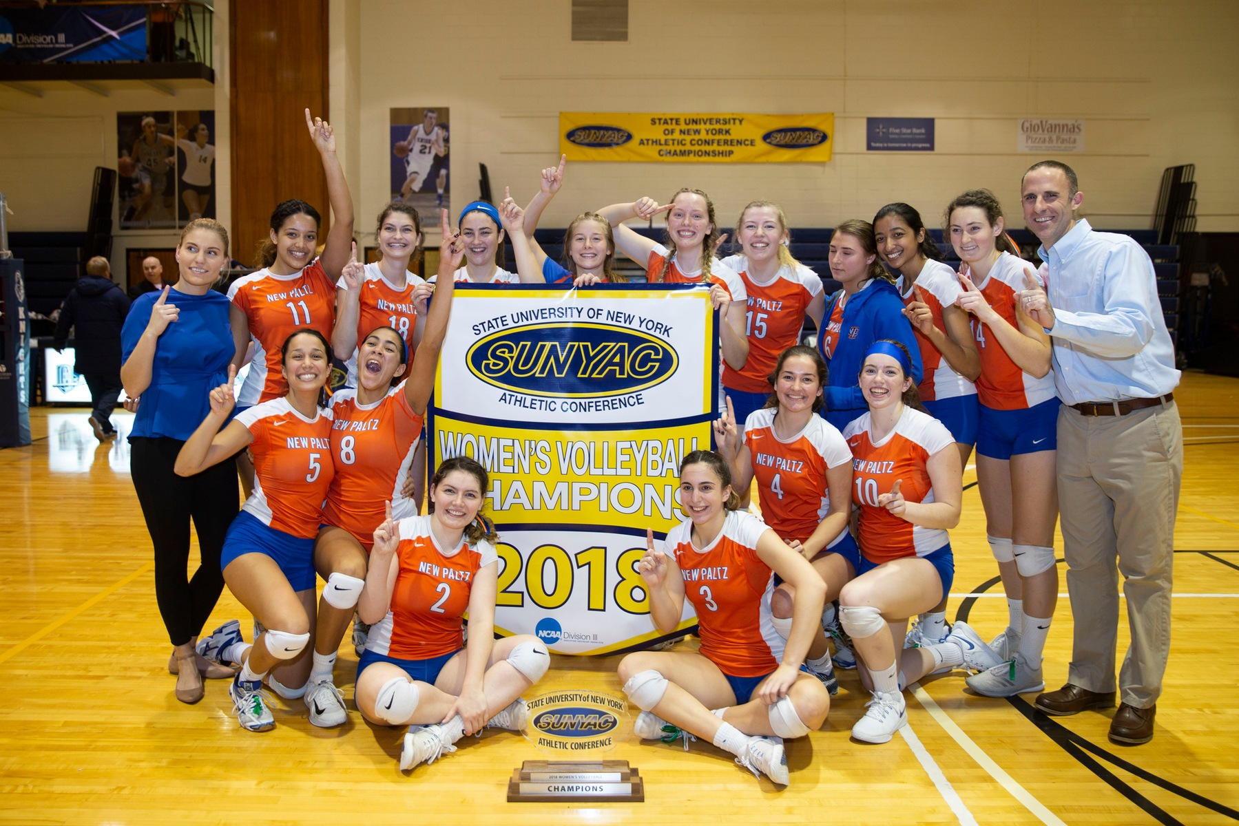 New Paltz defeats Geneseo in 2018 SUNYAC volleyball championship