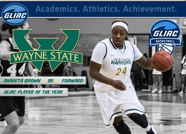 Wayne State's Brown Selected GLIAC Women's Basketball Player of the Year; All-GLIAC Teams Announced