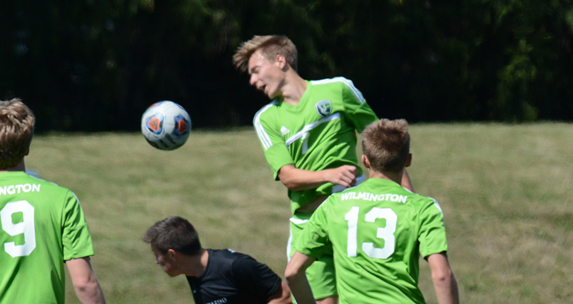 Junior Niklas Martennson scored both of Wilmington's goals Saturday. (Wilmington photo/Randy Sarvis)