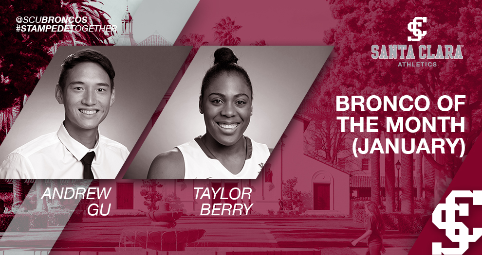 Gu, Berry Named SAAC Broncos of the Month