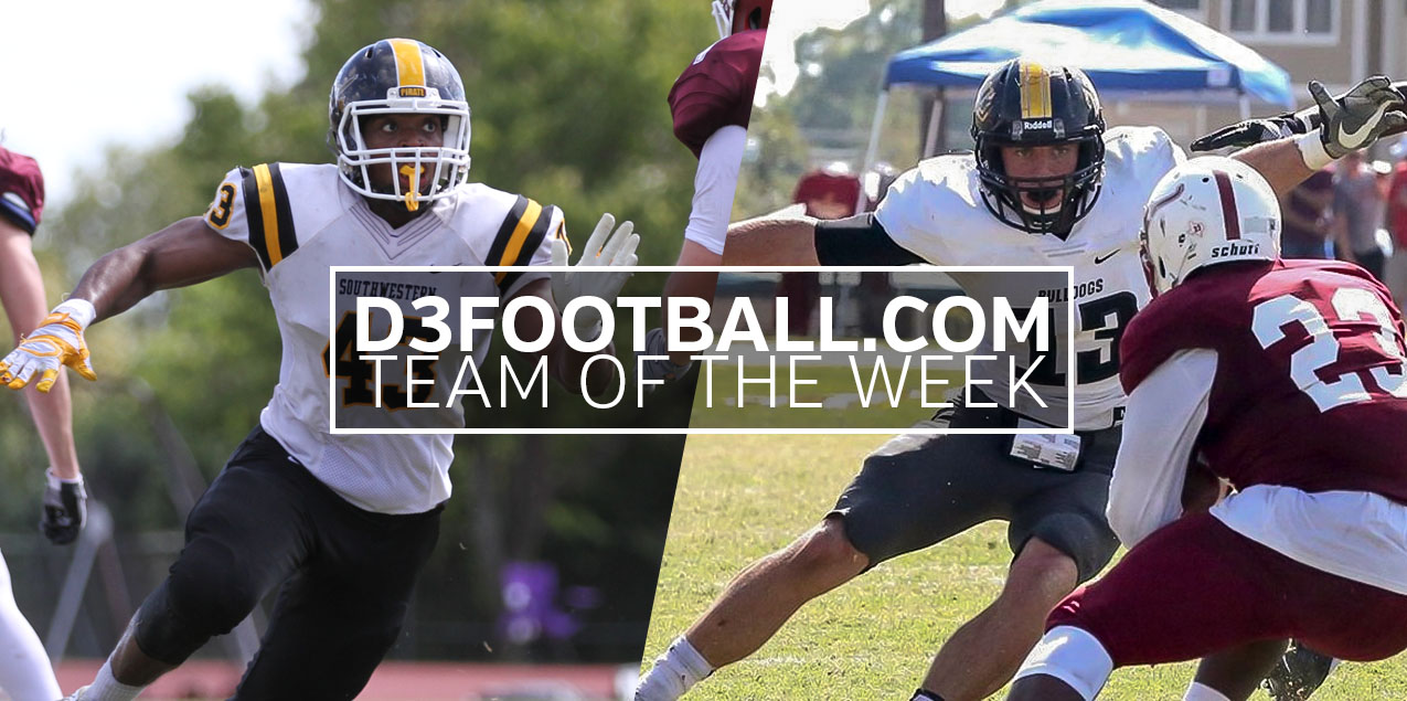 Southwestern's Broussard, Texas Lutheran's Cuzze Earn D3football.com Team of the Week Honors