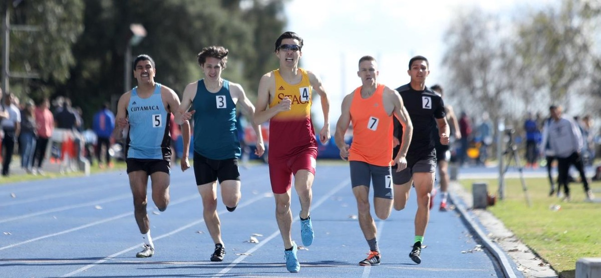 Keizo Morgan won the 800 meters at the Pomona-Pitzer All Comers with a time of 1:57.91