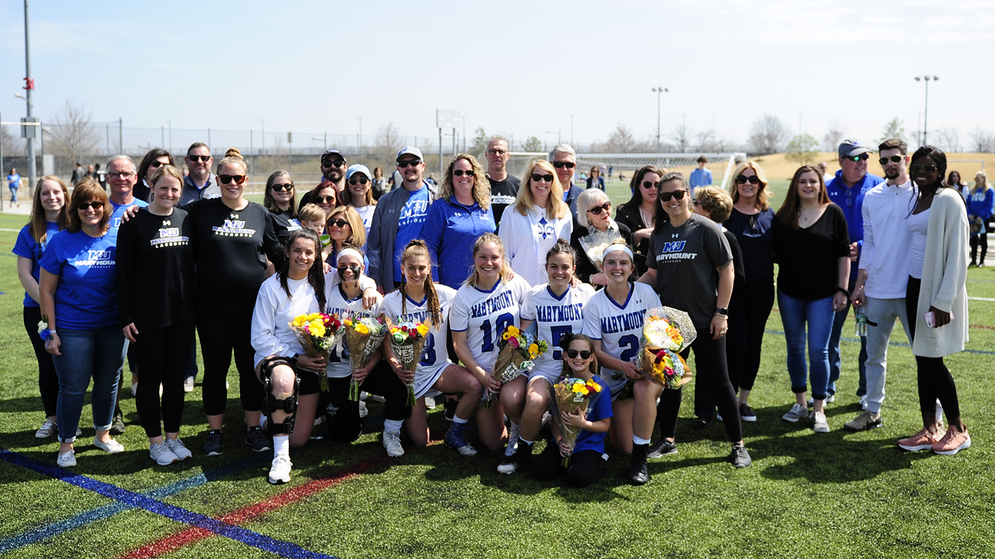 Saints celebrate Senior Day but drop first conference game