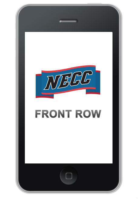 Get your seats in the Front Row. Download the NECC mobile app.