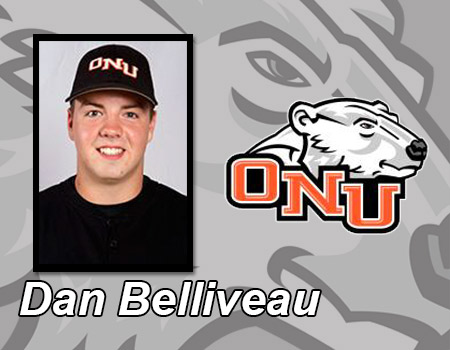 Belliveau extends hit streak to 18 games in Baseball's double header split with No. 18 Mount Union