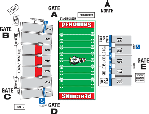 Stambaugh Stadium Seating Chart