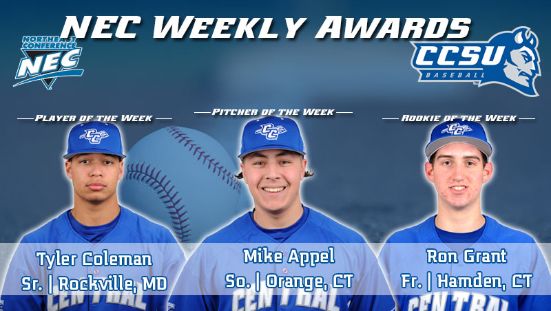 Baseball Sweeps NEC Weekly Honors For Second Straight Week