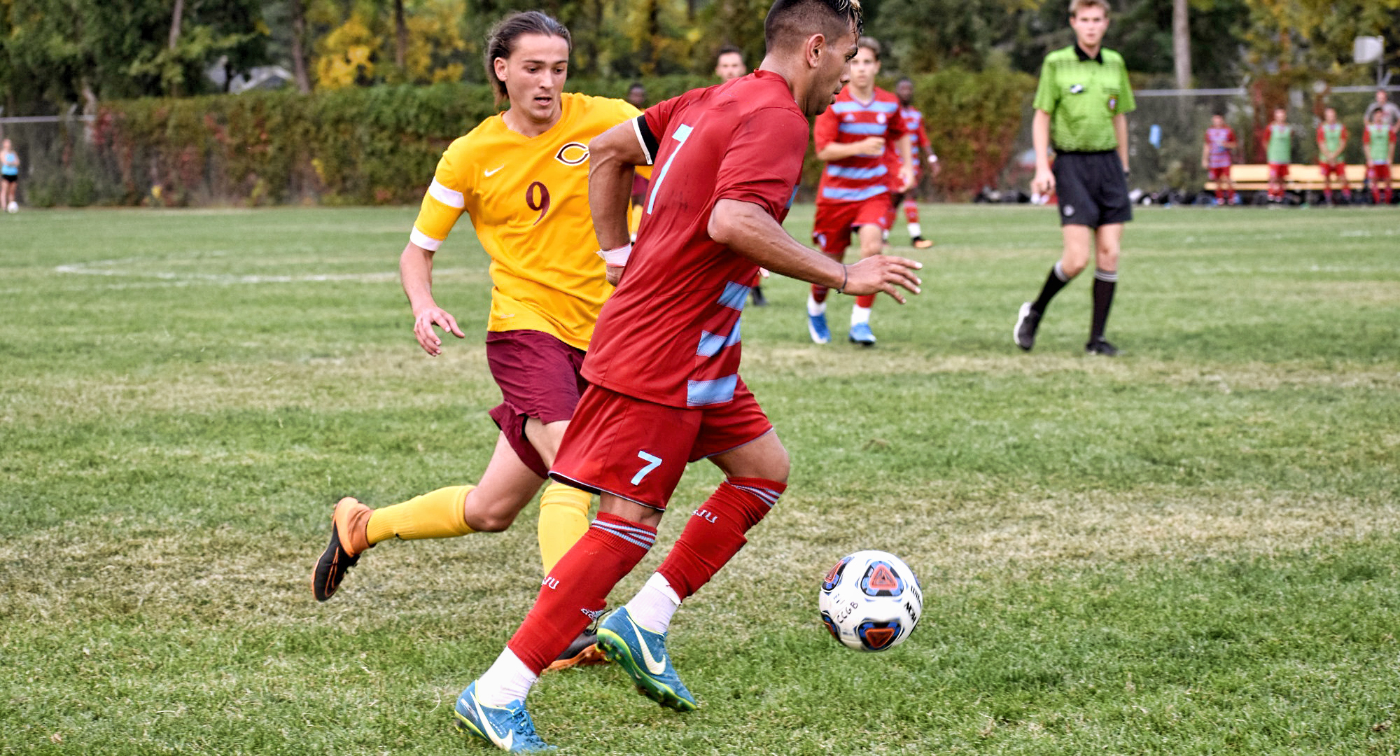 Junior Justin Froslie scored the game-winning goal on a penalty kick in the Cobbers' 1-0 win at Carleton.