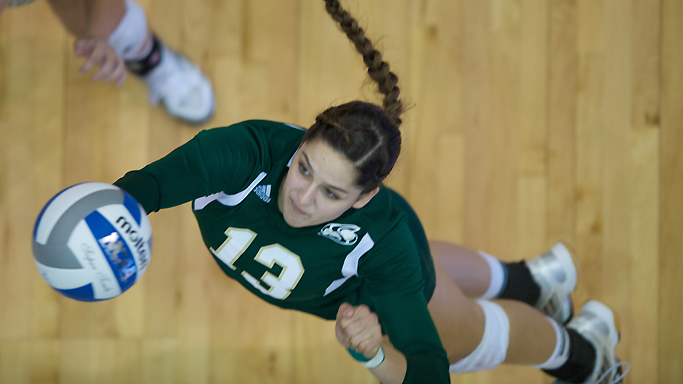 VOLLEYBALL FALLS IN THREE AT NORTH DAKOTA
