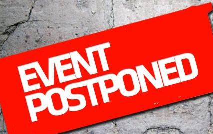 Two Tuesday Events Postponed