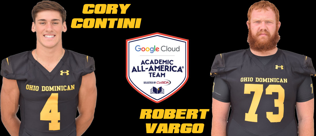 Contini, Vargo Tabbed As Academic All-Americans