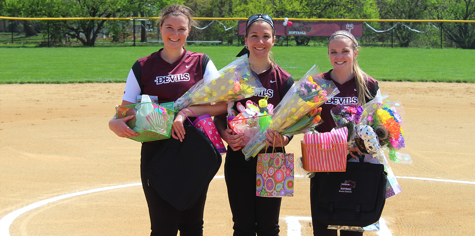 Softball Sweeps Nyack on Senior Day Behind Complete Games from Colburn and Jackson