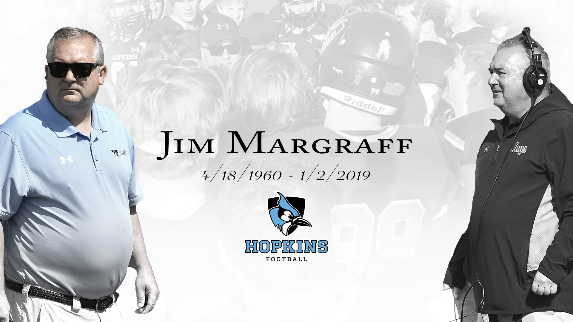 Jim Margraff was the winningest football coach in Johns Hopkins and Centennial Conference history.