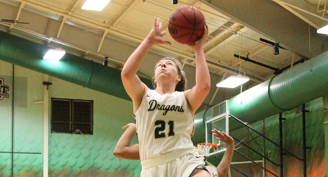 Hiegel's Career-High Leads Dragons in Defeat at Malone