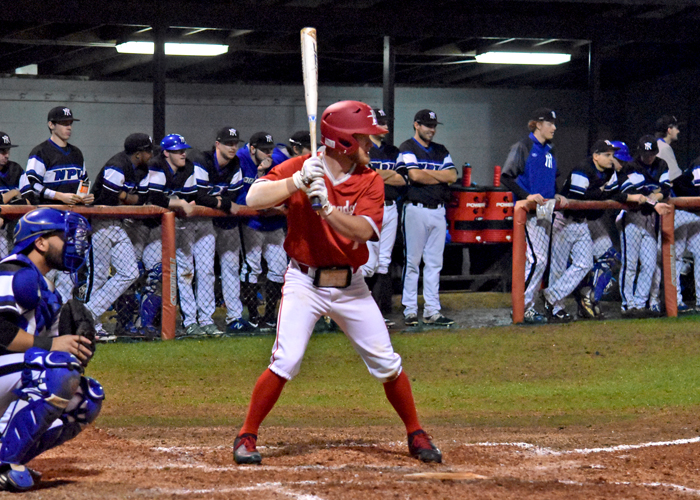 Bradley Harris was 2-for-3 with two RBIs and two runs in Sunday's win over Averett.