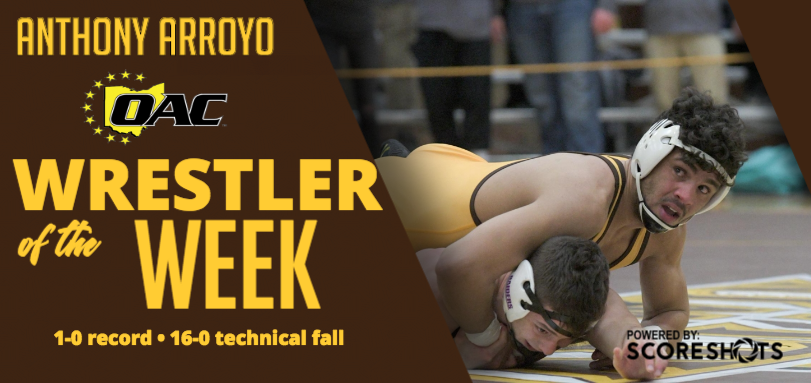Arroyo Garners Fifth Career OAC Wrestling Weekly Honor