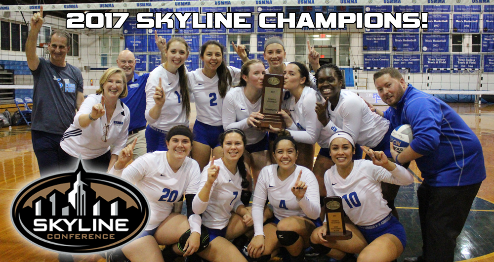 Skyline Champions! Women's Volleyball Books Ticket To NCAAs With 3-2 Win Over Mount St. Vincent!