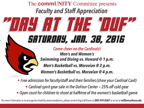 DAY AT THE 'DUF: Faculty & Staff Appreciation Day this Saturday