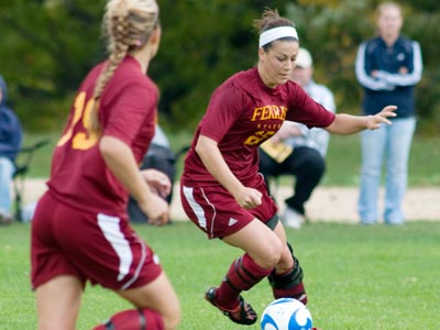 Cassie Aro tallied the Bulldogs' lone goal in the 5-1 conference road loss to Tiffin.