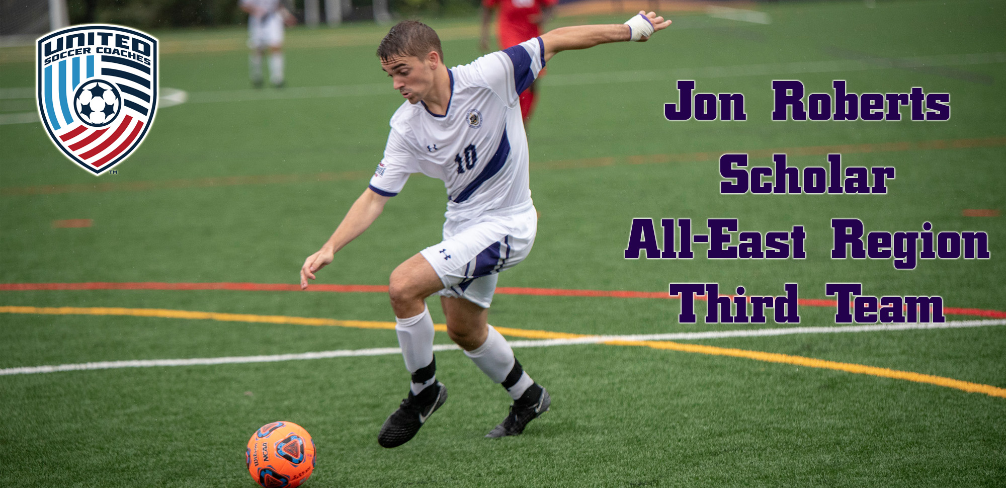 Junior Jon Roberts has earned Scholar All-Region honors from the United Soccer Coaches.