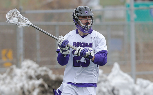 Junior Jake Haimson scored four goals to pace the Royals to an 11-8 win at Muhlenberg on Saturday.