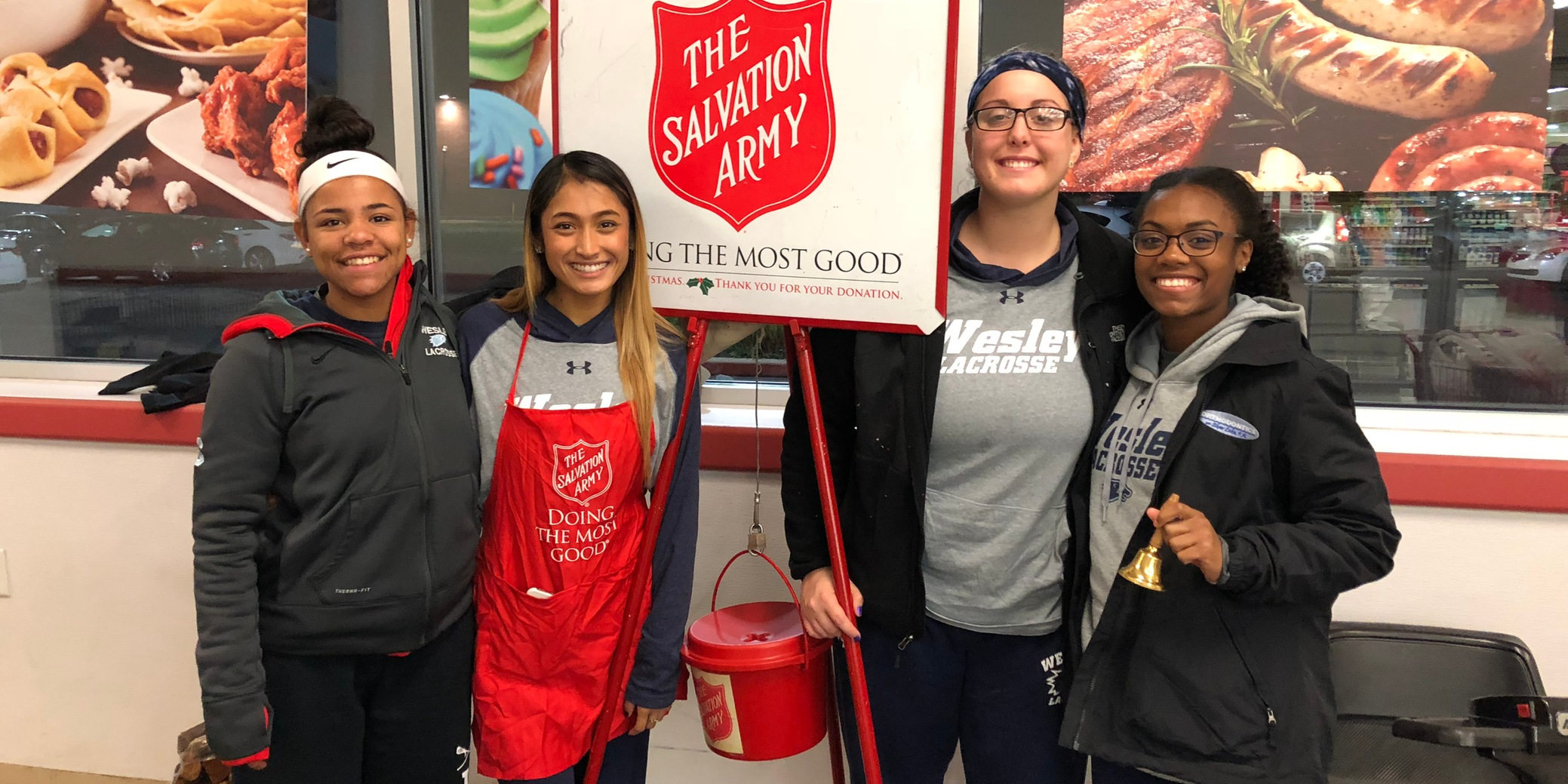 Women's Lacrosse rings in the holidays with Salvation Army