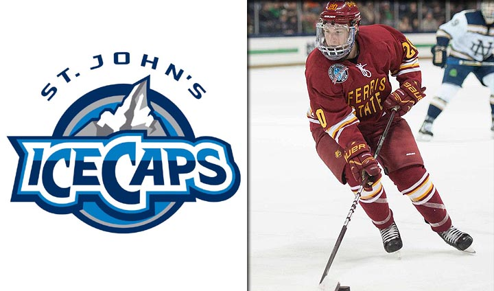 Ferris State's Kirzinger Signs With Winnipeg Jets' AHL Team