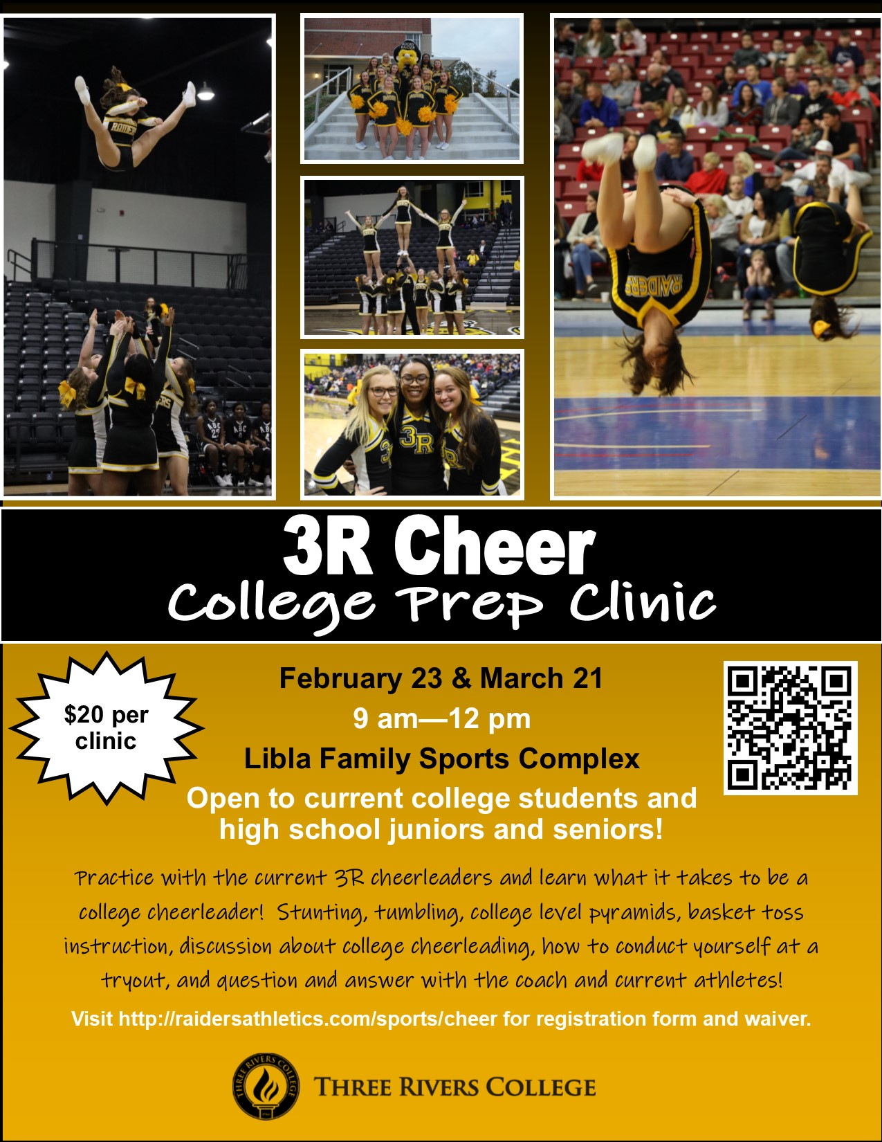 Cheer to hold College Prep Clinic