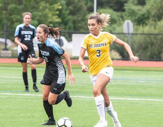 Woman's Soccer Edged by Mt. St. Mary, 3-2