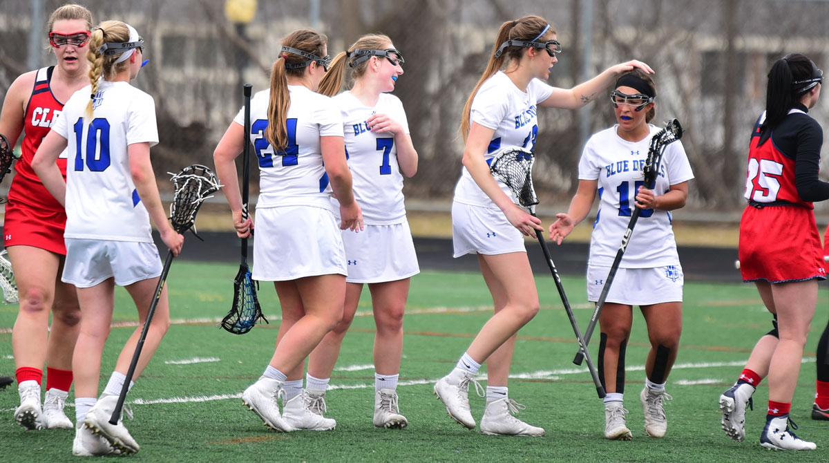 Blue Devils Stay Undefeated in the WHAC with 22-4 Win Against the Cleary Cougars