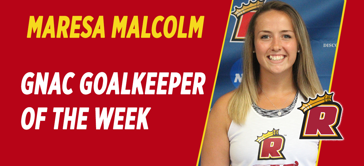 Malcolm Wins Third GNAC Goalkeeper of the Week Award