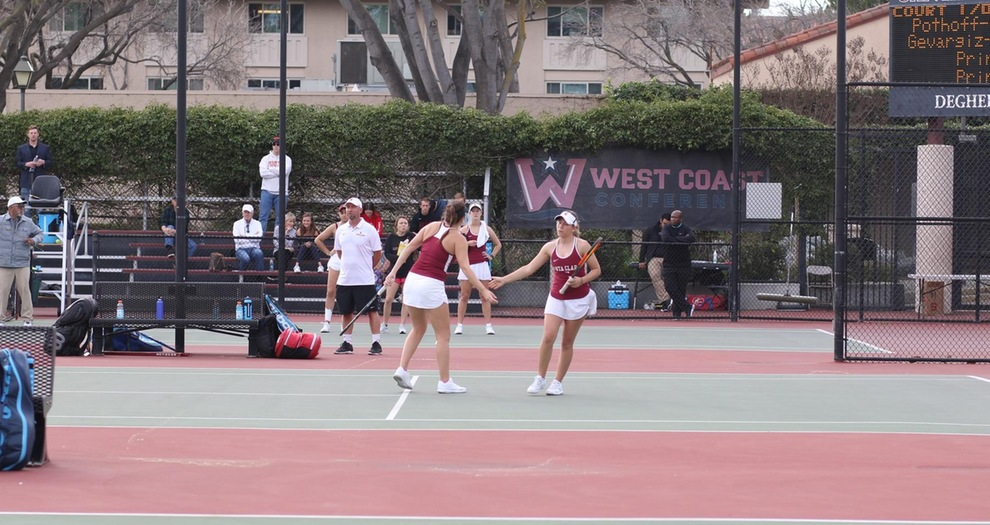 Caitlyn Frankel and Katya Tabachnik on doubles court two.