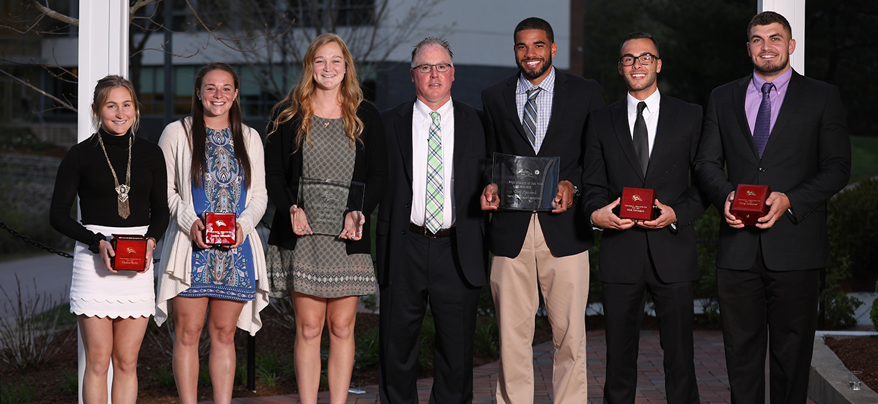 2016-17 Endicott Athletics Award Winners post for a photo.