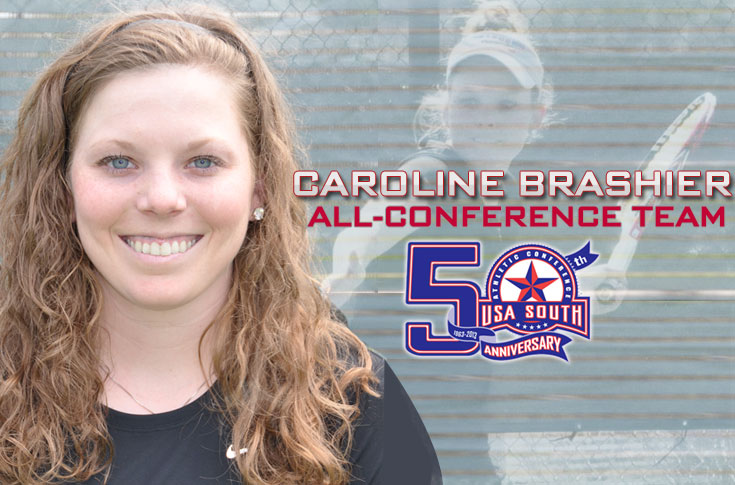 Women's Tennis: Brashier earns second straight USA South All-Conference selection