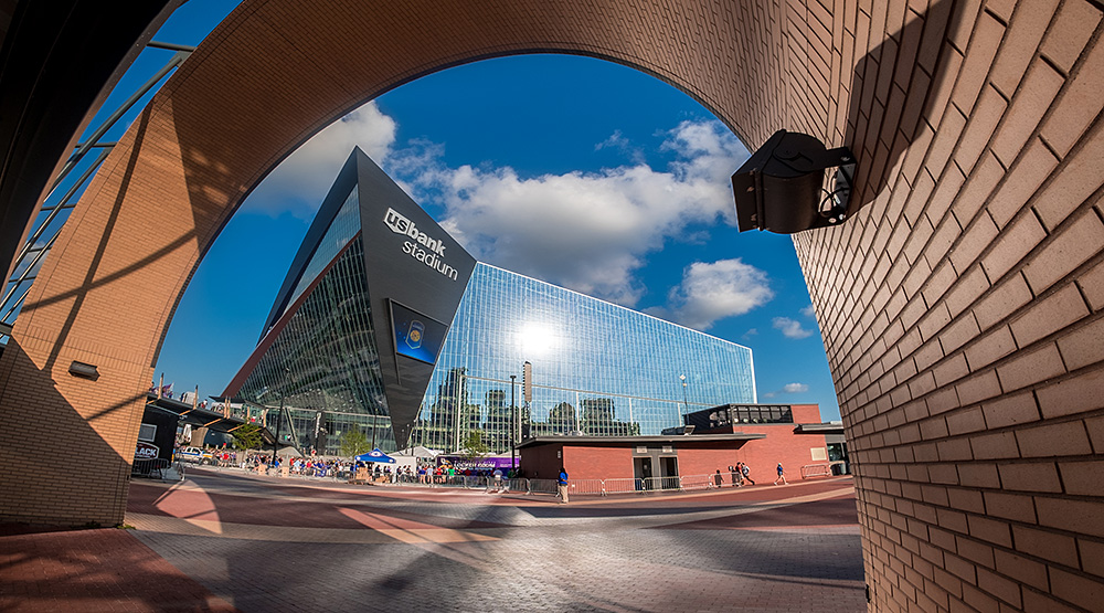 Great fisheye shot of U.S. Bank Stadium by Mac H (Media601) licensed by CC BY-SA 2.0