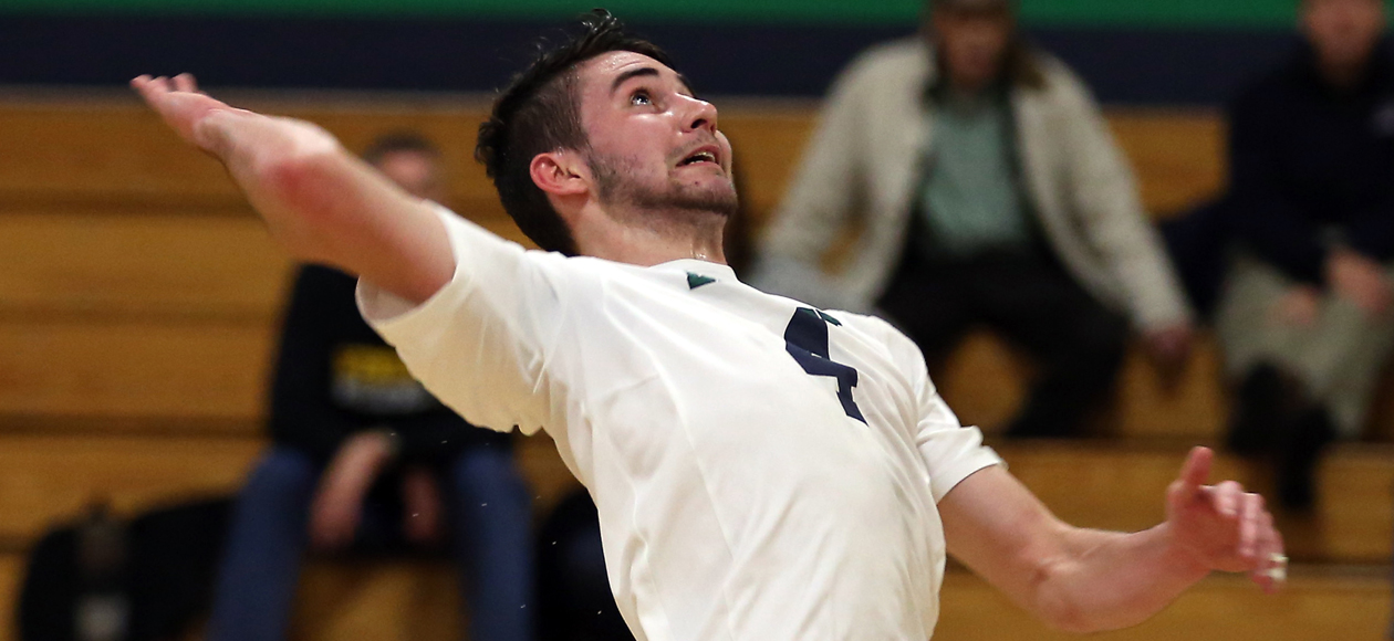 Balanced Attack Leads Men's Volleyball Past Elms, 3-1