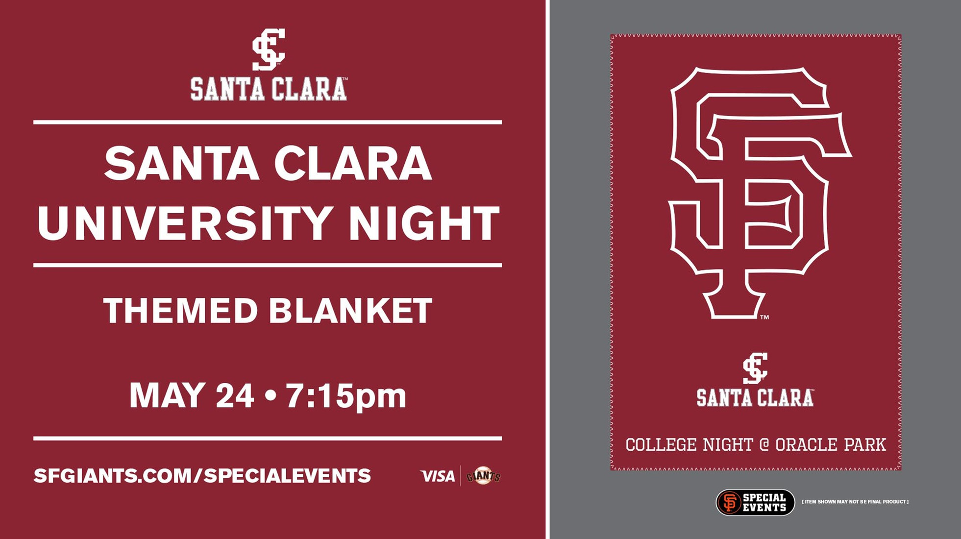 College Night with the San Francisco Giants Set for May 24